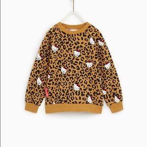 Zara Hello Kitty leopard print sweatshirt